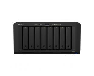 Diskų masyvas Synology Tower NAS DS1821+ Up to 8 HDD/SSD Hot-Swap, Ryzen V1500B Quad Core, Processor frequency 2.2 GHz, 4 GB, DDR4, RAID 0,1,5,6,10,Hybrid, 4x1GbE, 4xUSB 3.0, 2x eSATA, 1x PCIe, Dual Fan