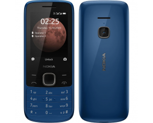 "Mobilus telefonas Nokia 225 4G TA-1316 Blue, 2.4 "", TFT, 240 x 320 pixels, 64 MB, 128 MB, Dual SIM, Nano-SIM, 3G, Bluetooth, 5.0, USB version MicroUSB, Built-in camera, Main camera 0.3 MP, 1150 mAh"