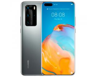 "Mobilus telefonas Huawei P40 Pro Silver Frost, 6.58 "", OLED, 1200 x 2640 pixels, Kirin 990 5G, Internal RAM 8 GB, 256 GB, NM (Nano Memory), Dual SIM, Nano-SIM, 3G, 4G, 5G, Main camera Triple 50+12+40 MP, Secondary camera 32 MP, Android, 10, 4200 m"