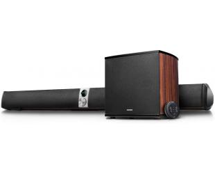 Kolonėlės Edifier Hi-Res Audio Qualified Soundbar and Subwoofer S70DB Brown, Bluetooth, Wireless connection