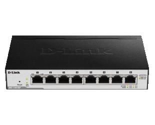 Komutatorius D-Link Smart Gigabit Ethernet Switch DGS-1100-08PLV2 Managed, Desktop, PoE ports quantity 4, Power supply type External, Ethernet LAN (R
