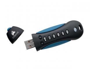 USB raktas Corsair Secure with Keypad Padlock 3 32GB, USB 3.0, Black/Blue