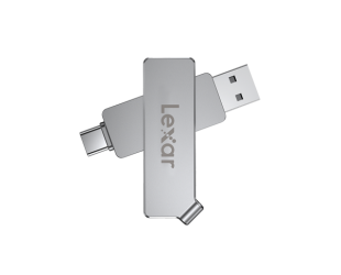 USB raktas Lexar JumpDrive Dual Drive D30c 256GB, USB Type-C and USB Type-A, Silver