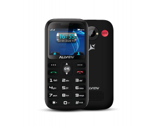 "Mobilus telefonas Allview D3 Senior Black, 2.31 "", TFT, 240 x 320 pixels, 8 MB, 16 MB, Dual SIM, Mini SIM, 3G, Bluetooth, 2.1, Built-in camera, Main camera 2 MP, 1400 mAh"