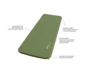 Kilimėlis Outwell Dreamcatcher Single, Self-inflating Mat, 50 mm, Green