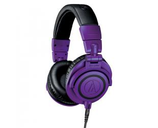 """Ausinės Audio Technica Wired Over-Ear Headphones ATH-M50xPB  Over-ear, 3.5mm TRS Plug and 1/4"""" Screw-On Adapter, Purple/Black"""