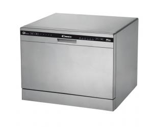 Indaplovė Candy Dishwasher CDCP 6S Table, Width 55 cm, Number of place settings 6, Number of programs 6, Energy efficiency class F, Silver
