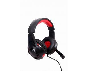 Ausinės Gembird Surround USB headset GHS-U-5.1-01 Built-in microphone, Black/Red