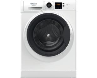 Skalbimo mašina Hotpoint Washing machine NS722U WK EU N Energy efficiency class E, Front loading, Washing capacity 7 kg, 1200 RPM, Depth 52.2 cm, Width 59.5 cm, Display, Small Digit, Steam function, White
