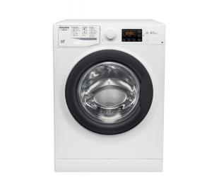 Skalbimo mašina Hotpoint Washing machine RSG724 JK EE N Energy efficiency class C, Front loading, Washing capacity 7 kg, 1200 RPM, Depth 43.5 cm, Width 59.5 cm, Display, Big Digit, White