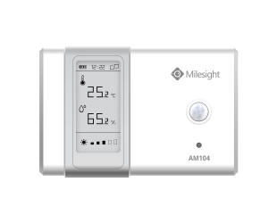 Milesight IoT LoRaWAN AM104 Indoor Ambience Monitoring Sensor Temperature Humidity Light