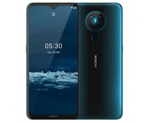 "Mobilus telefonas Nokia 5.3 TA-1234 6.55 "", Cyan, IPS LCD, 720 x 1600 pixels, Qualcomm SM6125 Snapdragon 665, Dual SIM, Nano-SIM, 4.2, Internal RAM 3 GB, 64 GB, MicroSDXC, 3G, 4G, Main camera 13+5+2+2 MP, Secondary camera 8 MP, Android, 10, 4000 mAh"