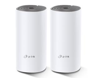 Maršrutizatorius TP-LINK C1200 Whole Home Mesh Wi-Fi System Deco E4 (2-pack) 802.11ac, 867+300 Mbit/s, 10/100 Mbit/s, Ethernet LAN (RJ-45) ports 2, Mesh Support Yes, MU-MiMO Yes, Antenna type 2xInternal