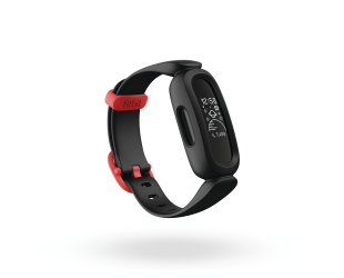 Išmanusis laikrodis Fitbit Ace 3 Fitness tracker, OLED, Touchscreen, Waterproof, Bluetooth, Black/Racer Red