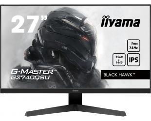 "Monitorius Iiyama Black Hawk Gaming Monitor G-Master G2740QSU-B1 27"", IPS, 2560 x 1440 pixels, 16:9, 1 ms, 250 cd/m², Black, matte, 1 x HDCP, 1 x Headphone connector"
