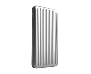 Išorinė baterija (power bank) Silicon Power Power Bank QP66 Li-Polymer, Silver, 10.000 mAh, Micro-USB, Type-C, Lightning, 3.5 hours, 1x USB Type-A; 1x