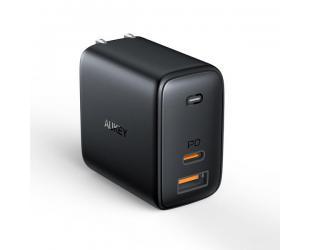Įkroviklis Aukey Wall Charger PA-B3 Mini USB-C, 2 x USB-A, 65 W