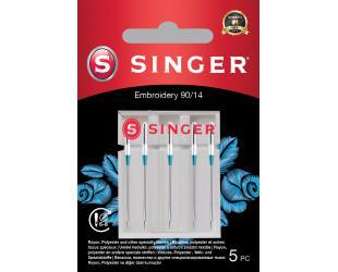 Adata siuvinėjimui Singer Embroidery Needle 90/14 5PK