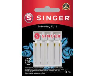 Adata siuvinėjimui Singer Embroidery Needle 80/12 5PK
