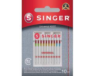 Adata universali austiniam audiniui Singer Universal Needles ASST 10PK for Woven Fabrics