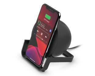 Belaidis įkroviklis Belkin Wireless Charging Stand + Speaker BOOST CHARGE Black