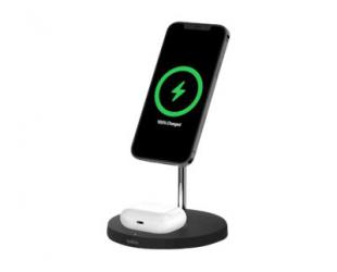 Belaidis įkroviklis Belkin Pro MagSafe 2in1 Wireless Charging Stand + AC Power Adapter BOOST CHARGE Black