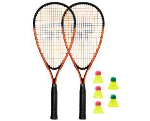 Badmintono rinkinys Spokey SPIKY Speed badminton set Black/Orange