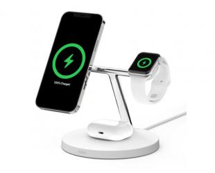 Belaidis įkroviklis Belkin PRO MagSafe 3in1 Wireless Charge  BOOST CHARGE White