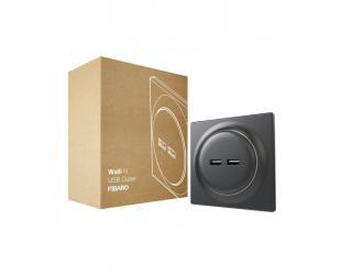 Fibaro Walli N USB Outlet, Black