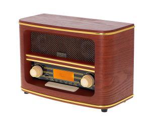 Radijo imtuvas Adler Retro Radio AD 1187 Display LCD, AUX in, Wooden, Alarm function