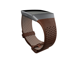 Apyrankė Fitbit Ionic Accessory Perforated Leather Band Dark Brown - L dydžio