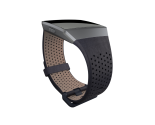 Apyrankė Fitbit Ionic Accessory Perforated Leather Band Navy - S dydžio