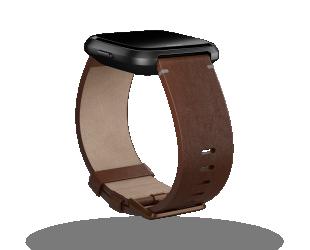 Apyrankė Fitbit Versa Accessory Leather Band Cognac - L dydžio
