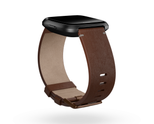 Apyrankė Fitbit Versa Accessory Leather Band Cognac - S dydžio