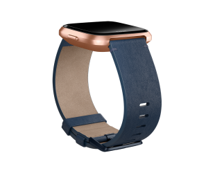 Apyrankė Fitbit Versa Accessory Leather Band Navy - L dydžio
