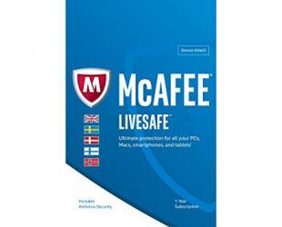 Antivirusinė programa McAfee Livesafe Unlimited, 1 PC