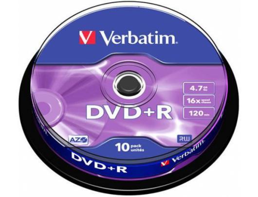 Diskas VERBATIM DVD+R 43498, 10vnt
