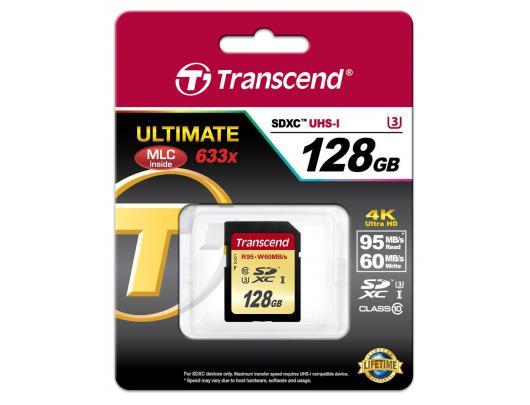Atminties kortelė TRANSCEND SDXC 128GB, UHS-I U3