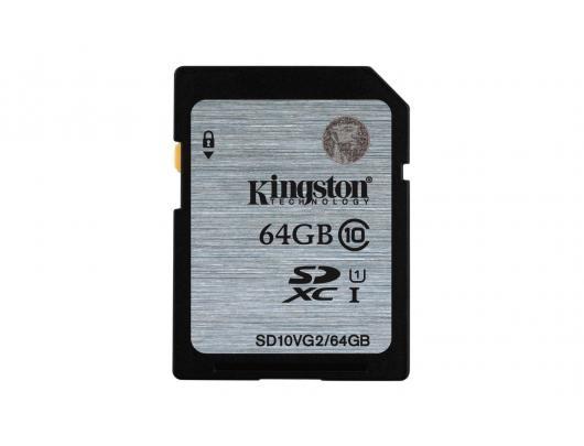 Atminties kortelė KINGSTON 64GB SDHC, UHS-I