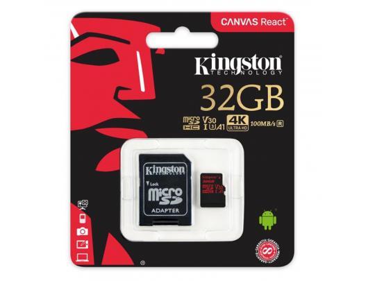 Atminties kortelė KINGSTON 32GB microSDHC, UHS-I U3