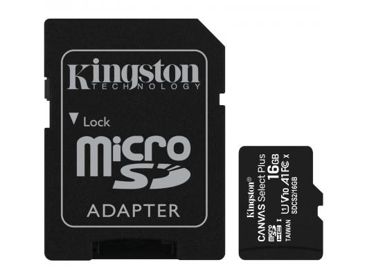 Atminties kortelė KINGSTON 16GB microSDHC