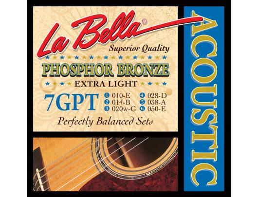 Gitaros stygos LA BELLA Acoustic 7GPT XL