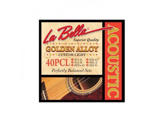 Gitaros stygos LA BELLA Acoustic 40PCL