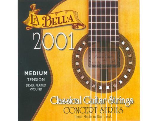 Gitaros stygos LA BELLA 2001MED tension