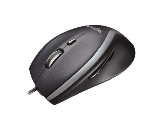 Lazerinė pelė LOGITECH M500, juoda