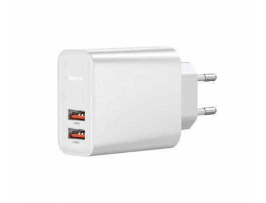 USB įkroviklis BaseUS 220V, 2xUSB, QC3.0, 30W
