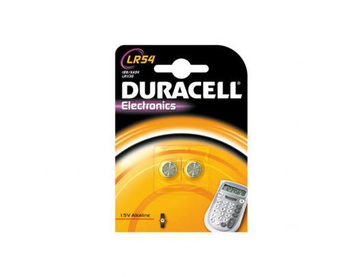 Elementai DURACELL AG10/LR54 1.5V, 2vnt.