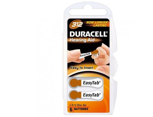 Elementai klausos aparatui DURACELL DA312 N6