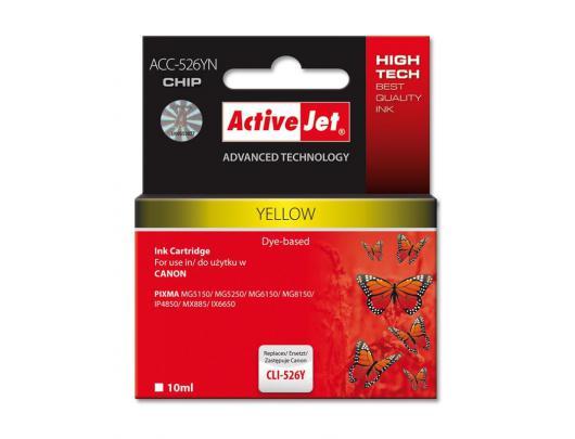 Rašalinė ACTIVEJET CLI-526Y, geltona