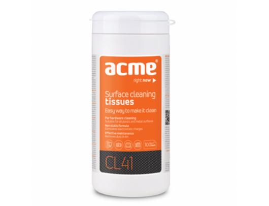 Paviršių valymo servetėlės ACME CL41, 100 vnt.